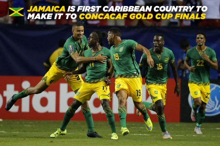 JAMAICA is the first Caribbean country to make it to #CONCACAF #GoldCup Finals.  #Jaminate #TeamJamaica
