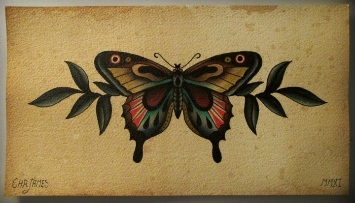 Butterfly by Chr James, would make a good tattoo.