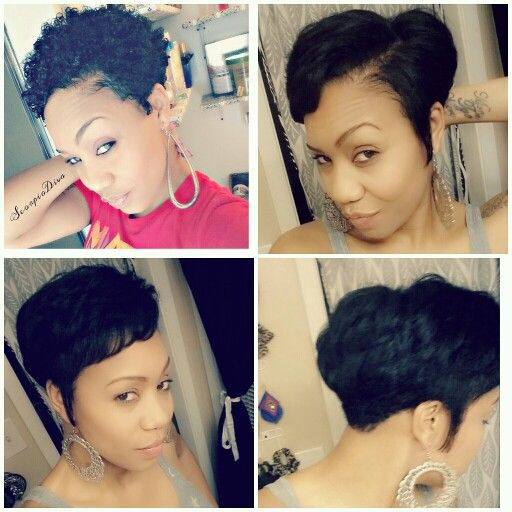 short cut styles black hair straightened my twa to trim my ends tapered twa 1228 | 6430467e7c3a23e0ce135df75473a784 twa hairstyles natural hairstyles