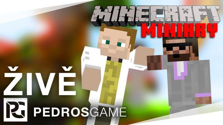 Pedro a GEJMR | Minecraft minihry | ŽIVĚ