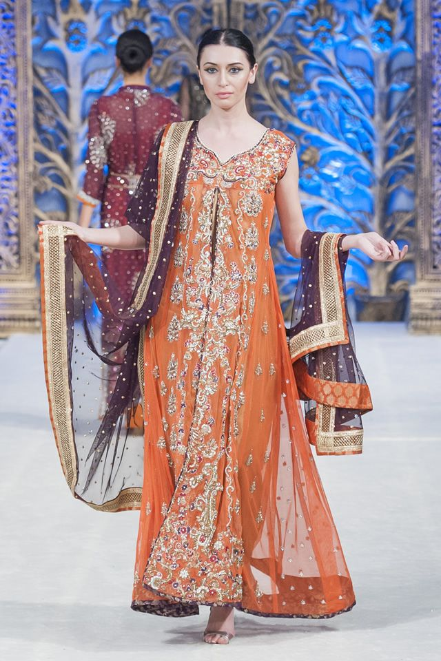 Mona Imran Bridal Collection at PFWL 14 These colours are perfect for a fall wedding!