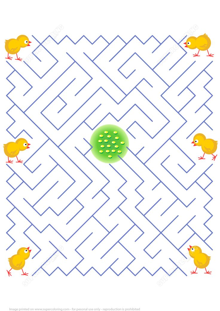 Help Every Chicken to Find It's Own Way to the Yummy Corn in the Middle of the Labyrinth Puzzle | Super Coloring