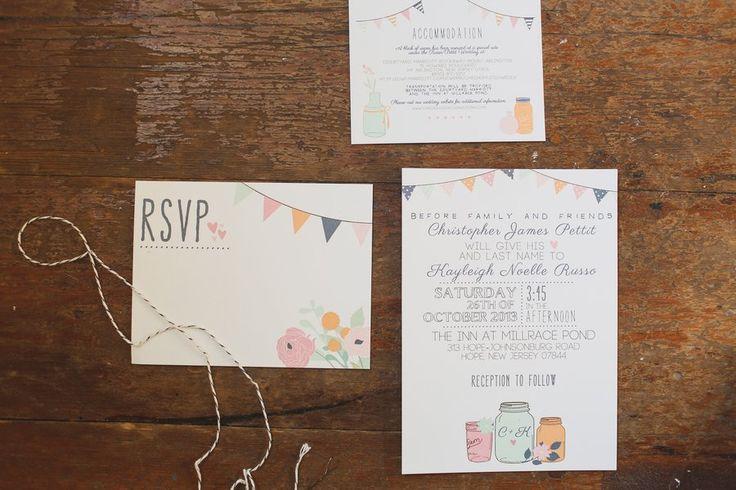 Rustic Whimsical Wedding Invitation