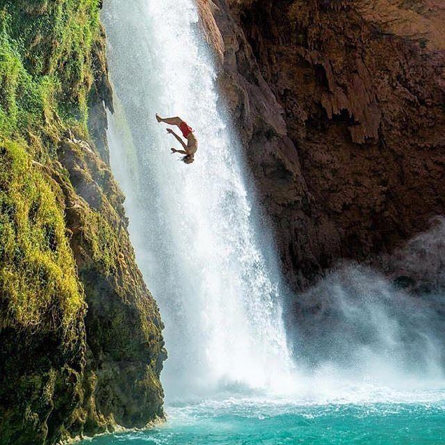 Let the weekend games begin! Photo   @jamesbarkman via @wearetravelguys #Friday #TGIF #HavasuFalls #Travel #Waterfalls