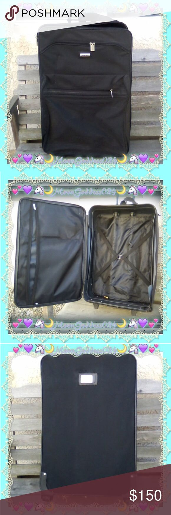 """Lucas EXTRA Large Roller Suitcase ~Bag*Set Lucas EXTRA Large Roller Suitcase ~Bag*Set  ~*Observe photos for best view of condition.✌*~     APPROXIMATE MEASUREMENTS::  Height= 27"""" Length=18"""" Width= 10""""   Like NEW!! Just may need a damp cloth taken to it from it being kept away for a little while...  Asking $150 OBO ~ don't be shy to make an offer I can't refuse ☺✌   ~*I also have lots of other travel items if looking for any, contact me :)*~ Lucas Bags Travel Bags"""