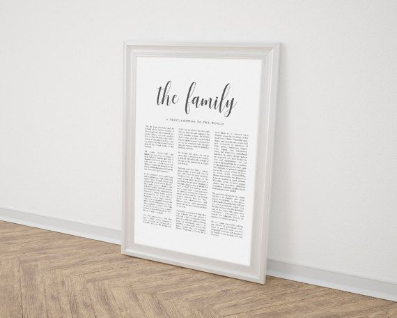 LDS Family Proclamation  The Family A by ChynnaHansenDesigns