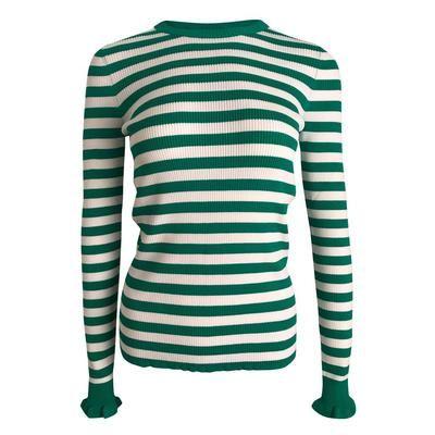 Neo Noir - Nelle Stripe Blouse - Green