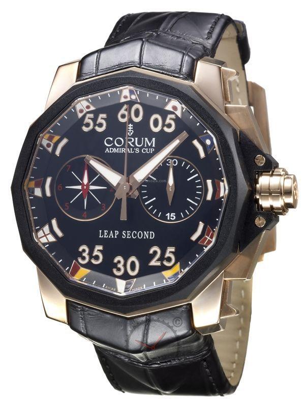Corum Admirals Cup Leap Second Chronograph 18kt Gold