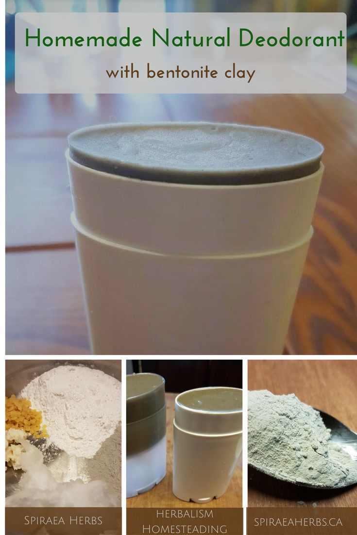 Homemade Natural Deodorant - with bentonite clay   Spiraea Herbs
