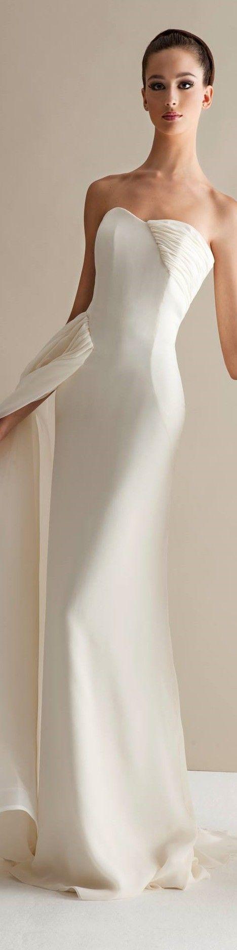 Simple off white wedding dresses   best wedding dress images on Pinterest  Homecoming dresses