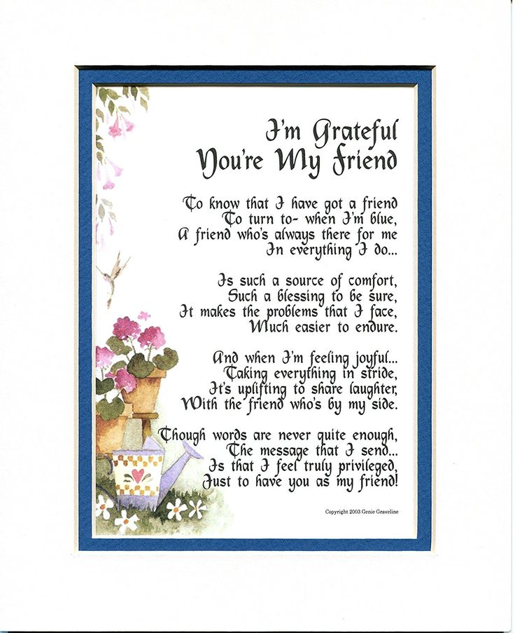 I'm Grateful You're My Friend, -151, Gift Poem 30th 40th 50th 60th 70th Birthday Present For A Special Friend. -- Check out the image by visiting the link. (This is an affiliate link and I receive a commission for the sales)