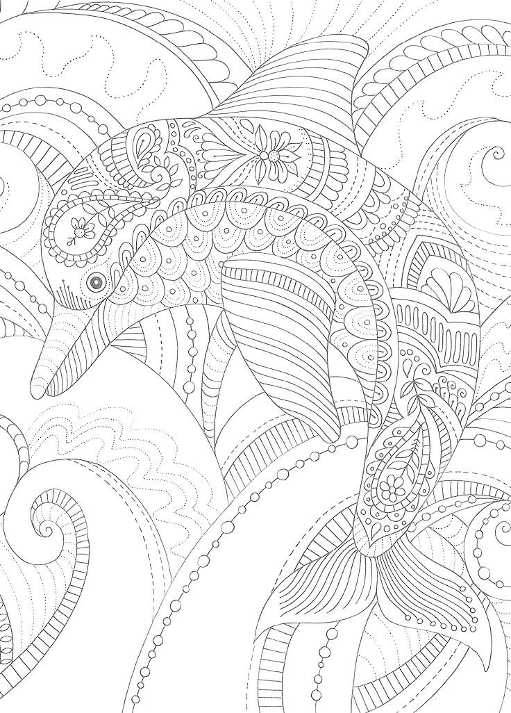 481 best Coloring: Under The Sea images on Pinterest | Therapy ...