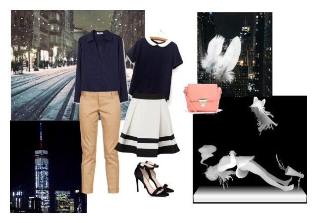"""""""Classic Navy"""" by ivanaputri on Polyvore featuring MANGO, Dsquared2, Lipsy, STELLA McCARTNEY and Boohoo"""