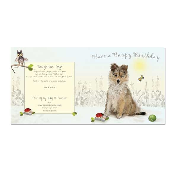 Puppy Dog Greeting Card: Happy Birthday, Unique Greeting Cards, Quality Birthday Cards and Luxury Christmas Cards by Paradis Terrestre