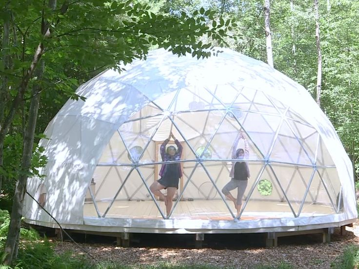 Because Of The Geometrical Shapes Within The Dome Any Structural Stress Is Distributed More Dome Tent Geodesic Dome Dome House