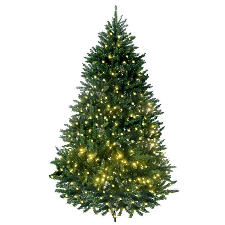 Merske 8-foot Prelit Artificial Lakewood Fir Tree with 750 LED Warm Lights and Metal Stand, Green