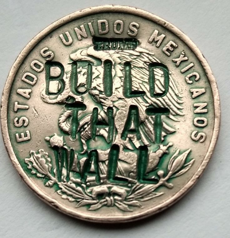 Mexico Peso  President TRUMP Build That Wall Political KEEPSAKE Coin 1965 TWALFX