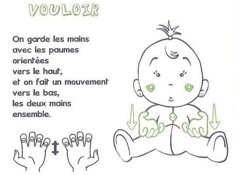 signe avec bébé VOULOIR