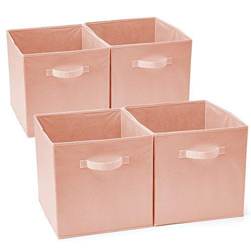 Ezoware Set Of 4 Foldable Fabric Basket Bins Collapsible Https Www Amazon Com Dp B078hl1qbl Ref Cm Collapsible Storage Cubes Cube Storage Fabric Baskets