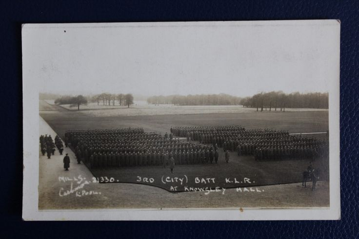 WW1 Era Photographic Postcard - Kings Regiment at Knowsley Hall, £4.00
