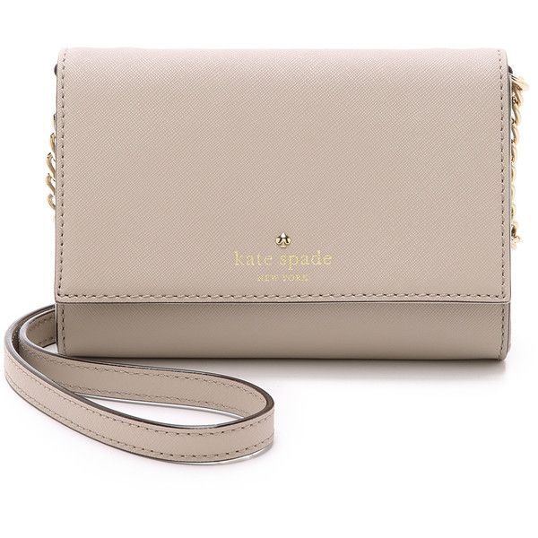 Kate Spade New York Cedar Street Cami Cross Body Bag (198 CAD) ❤ liked on Polyvore featuring bags, handbags, shoulder bags, clock tower, kate spade handbag, brown leather handbags, brown crossbody purse, leather purse and leather shoulder bag