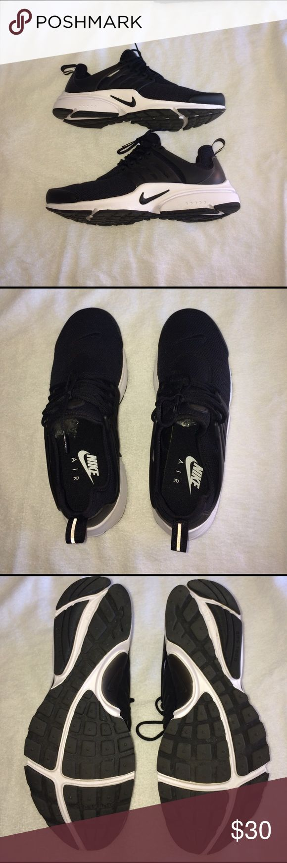 Nike air presto sneakers Black and white nike air presto sneakers. Worn only a few times with sock liner construction Nike Shoes Sneakers