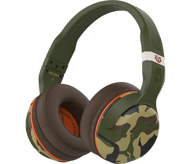 Skullcandy - Hesh 2 Wireless Over-the-Ear Headphones - Camo. Key Specs Headphone Fit Over-the-Ear Wireless Yes Built-In Bluetooth Yes Water Resistant No Noise Canceling No Warranty Parts Lifetime limited Labor Lifetime limited Design Behind The Neck No Adjustable Headband Yes Foldable Design No Feature Phone Control Yes Carrying Case Yes Sound Isolating No Power Rechargeable Battery No Batteries Included No Auto On/Off No Audio Circumaural Or Supra-Aural Circumaural General Color Category…