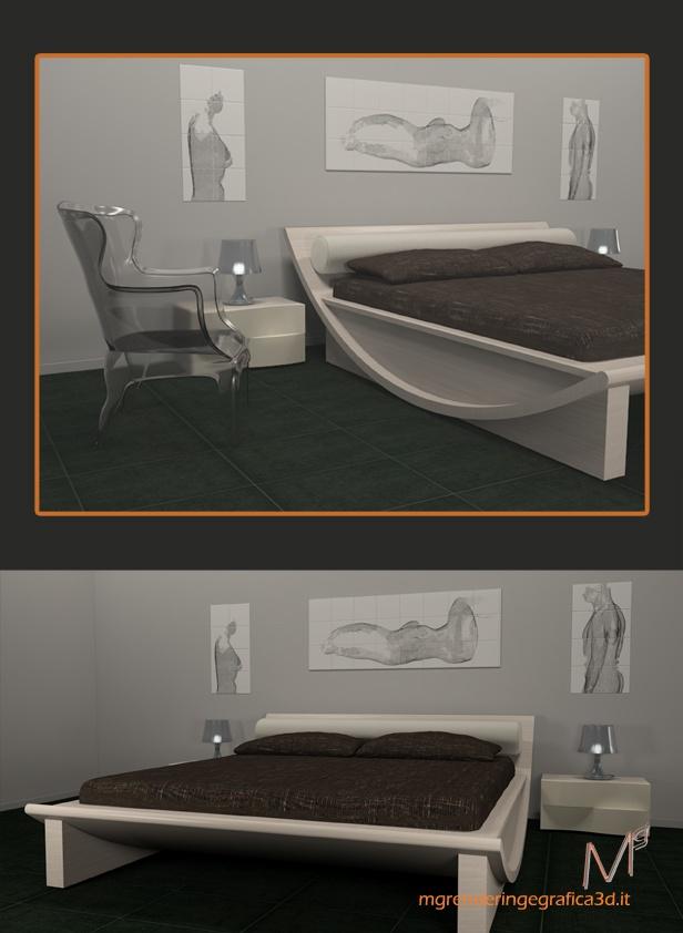Render bedroom Luna