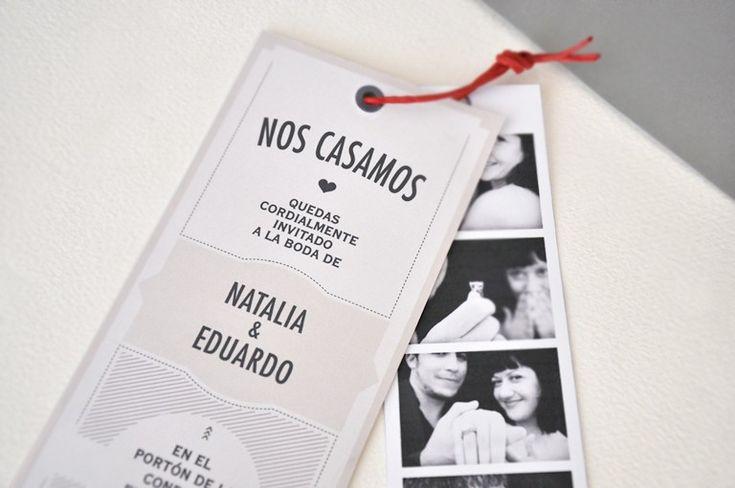 Miss Saturday - Invitacion boda originales y bonitas - fotomatón