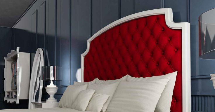 Cabecero tapizado capitoné de Franco Furniture. Muebles para dormitorios de ensueño.