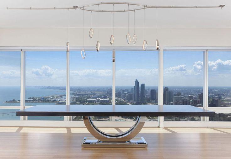 This minimal diningtable is handcrafted for moderninteriors. #diningroominspiration #interiordesign