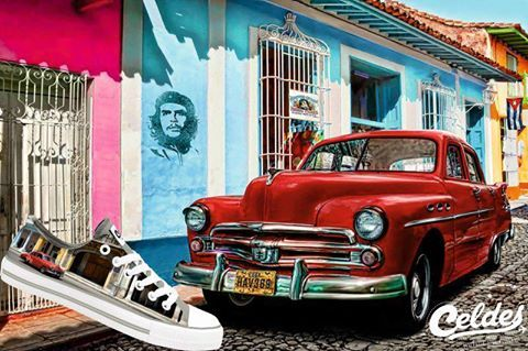 Pictures of famous Cuba! 🇨🇺  Enjoy them at: http://celdes.com/all/781-old-red-car-havana.html #exploreceldes #exploretheworld #cuba