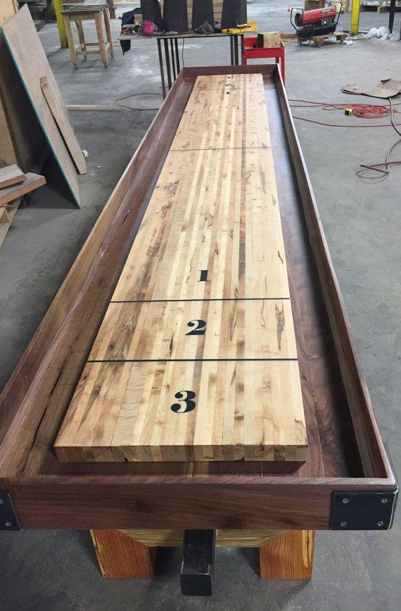 Custom Made Industrial Farmhouse Artisan Shuffleboard