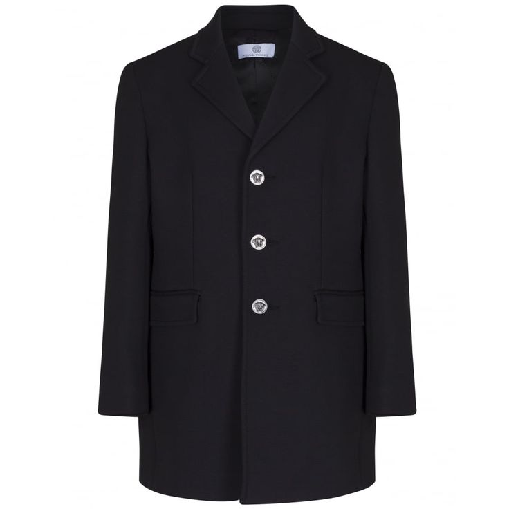 Young Versace Boys Black Coat New Childrenswear Autumn/Winter