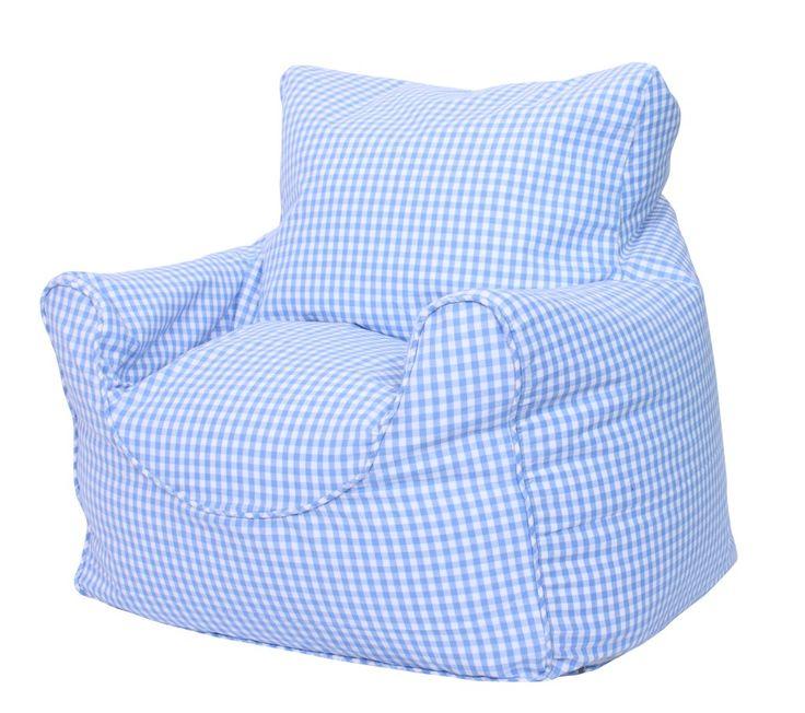 Blue Gingham Childrens Bean Chair £50 http://www.babyface.uk.com/childrens-bean-bag-chairs/blue-gingham-childrens-bean-bag-chair.html