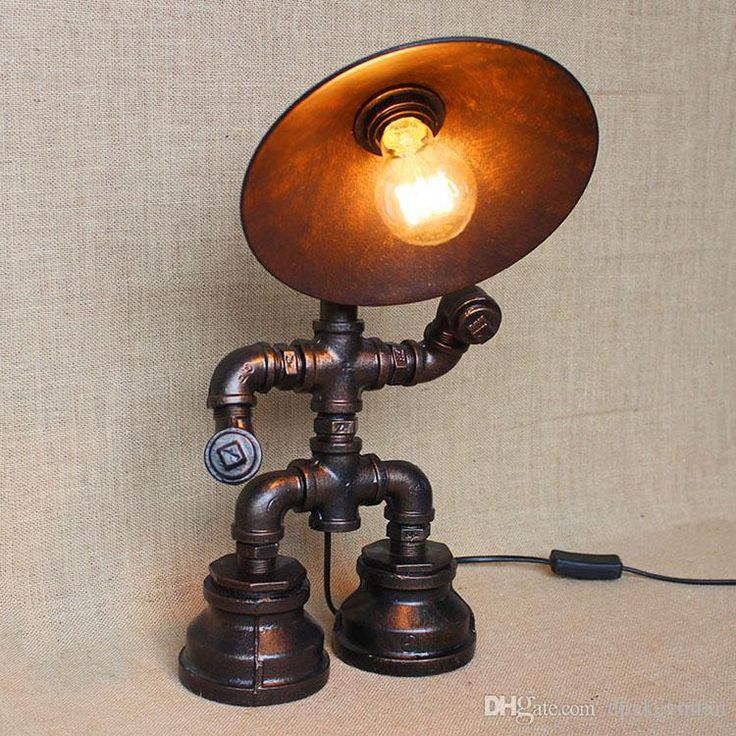 Vintage Water Table Lamps Water Pipe Table