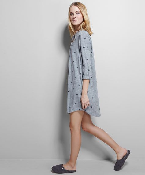 Glitter hearts nightdress - OYSHO