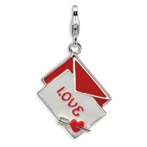 Sterling Silver 3-D Enameled Love Letter Charm ~ $36.00