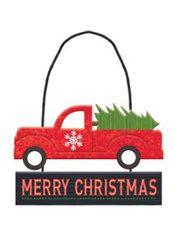 Mini Truck Merry Christmas Sign