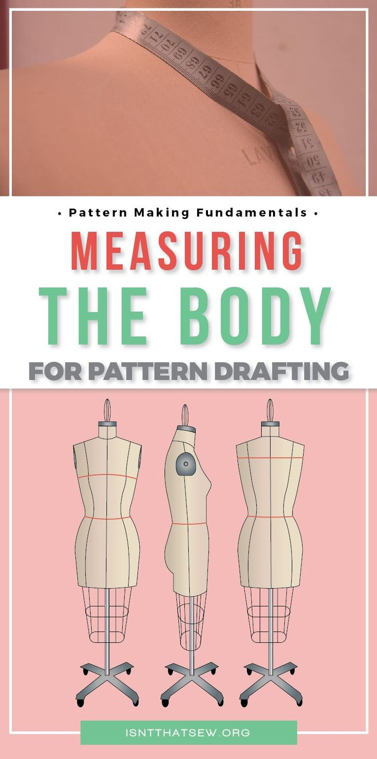 Download a free printable guide for measuring the body for pattern drafting. Click thru for full article.