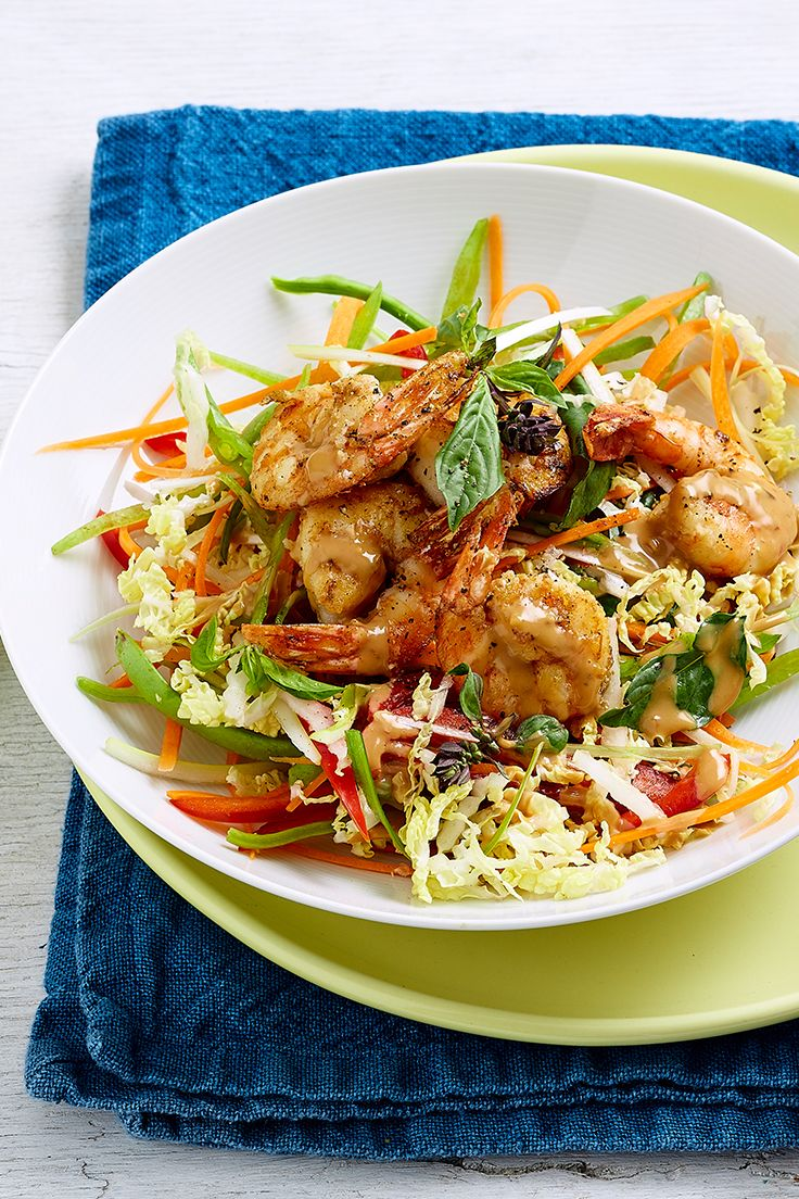 Switch out steamed rice or noodles for a light, crunchy salad next time you opt for a satay sauce dish. It's lower in calories but just as delicious, and you won't feel like you're missing a thing!