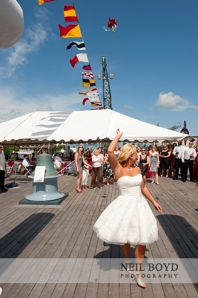 Reception On A BattleshipWilmington NC Wedding Battleship Wedding Erin McLean Events