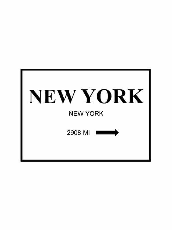 Poster – New York - Storlek 21x30