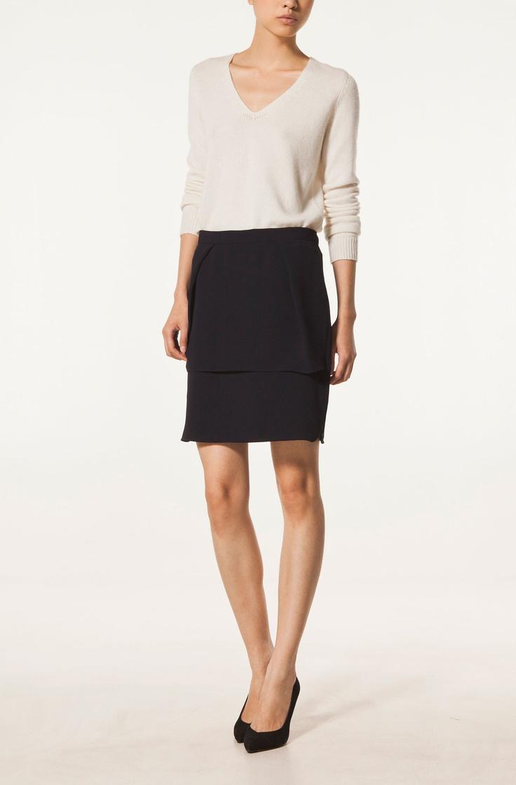 STRAIGHT LAYERED SKIRT - Skirts - WOMEN - United Kingdom