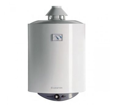 Pemanas air tabung berbahan bakar gas dengan sirkulasi udara alami, tidak memerlukan sambungan listrik sedikitpun.