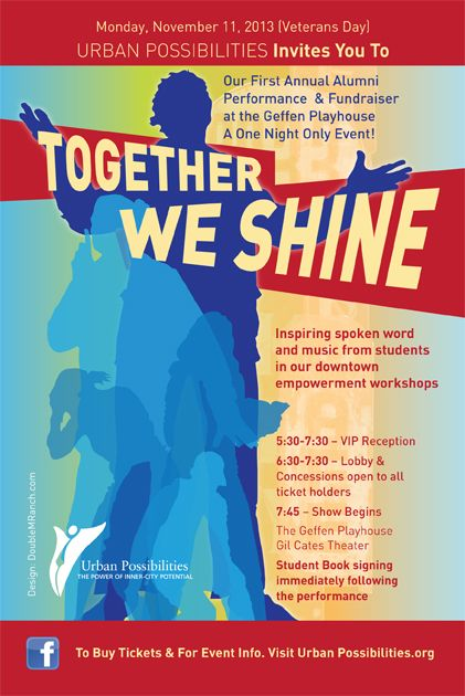 Urban Possibilities: Together We Shine (Tonight!)  Now Write! has comp tickets. Message me