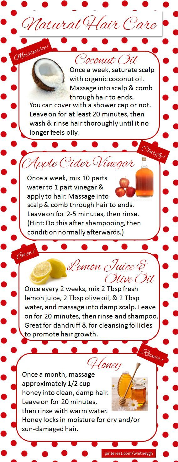 Natural Hair Care // I use all of these treatments regularly, so I created this little guide to share my tips. Enjoy! <3