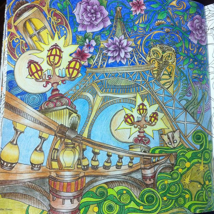 Eiffel Tower From Lizzie Mary Cullens Book The Magical City Done By Ajengpus