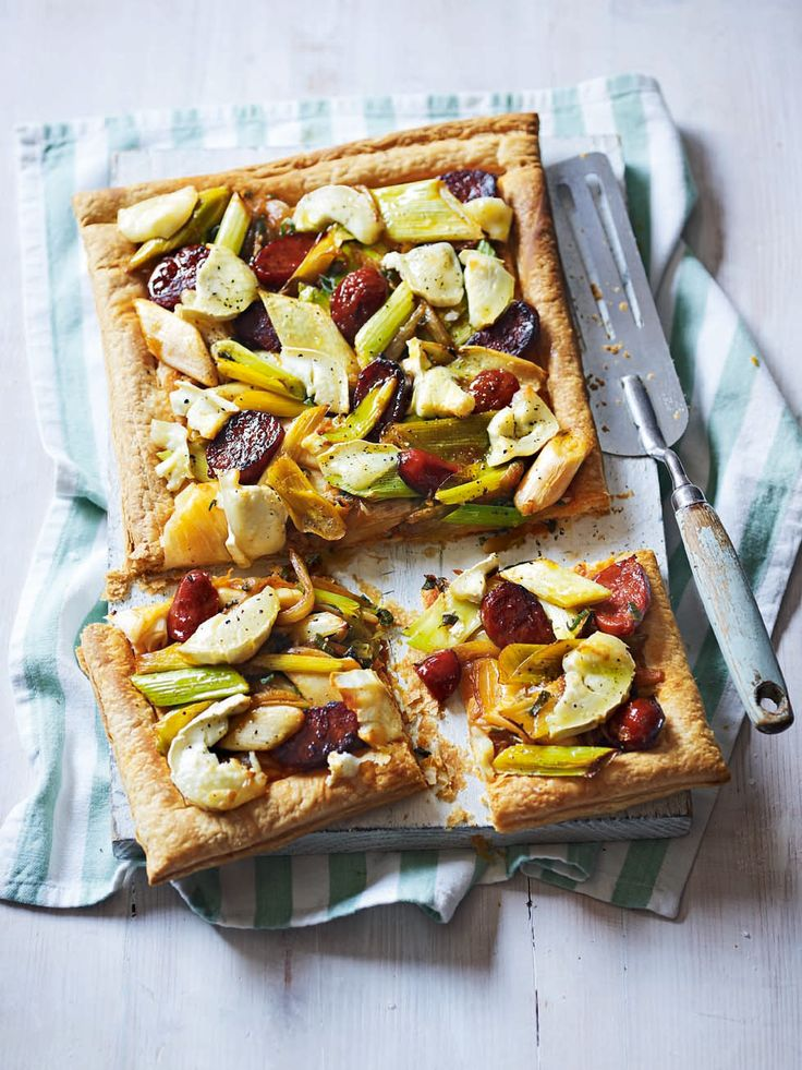This tart champions earthy flavour combinations of leek, chorizo, and sage.