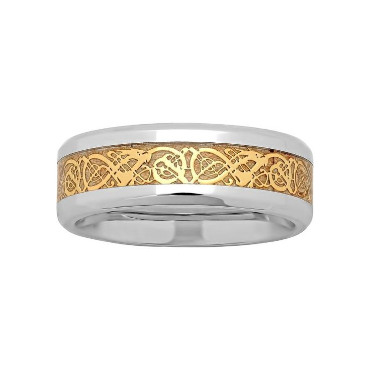 jcpenney mens two tone celtic dragon wedding band jcpenney - Jcpenney Mens Wedding Rings